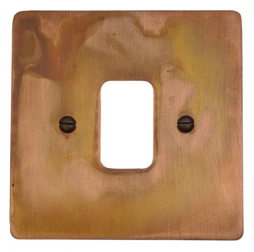 G&H FTC91 Flat Plate Tarnished Copper 1 Gang MK Compatible Grid Plate